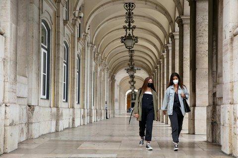 Das ganze Stadtgebiet von Lissabon ist am Wochenende abgeriegelt worden.