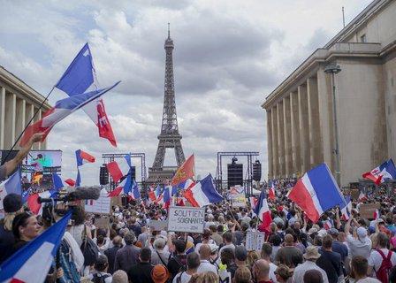Auch in Paris wurde demonstriert.