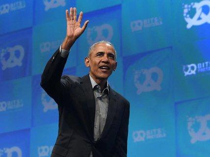 Feiert mit 700 Gästen - im Freien: Barack Obama.