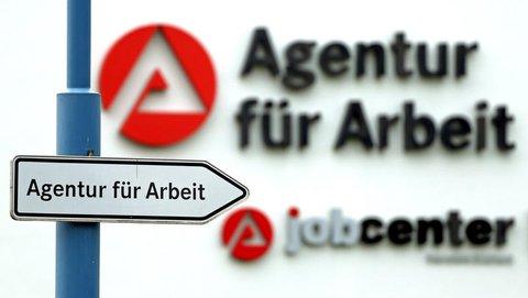 Hinweis auf die Agentur für Arbeit in Sangershausen.