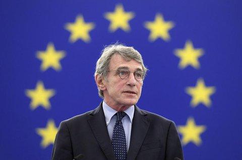 Der Präsident der Europaparlaments: David Sassoli.