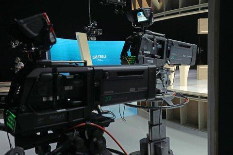 Das TV-Studio in Berlin Adlershof.