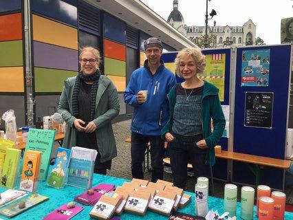 Kathrin Duffner, Andrea Brandt (Willma Freiwilligenagentur) und Veit Hannemann (BG Südstern)