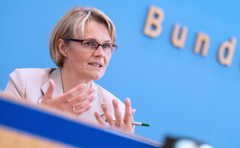 Bildungsministerin Anja Karliczek (CDU) kündigte die Projekte an.