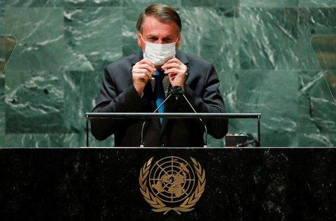 Brasiliens Staatspräsident Jair  Bolsonaro sprach auch vor der UN-Vollsammlung in New York.