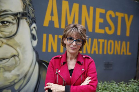Die AI-Generalsekretärin: Agnes Callamard.