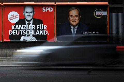 Momentan ist der SPD-Kandidat Scholz auf Kanzlerkurs.