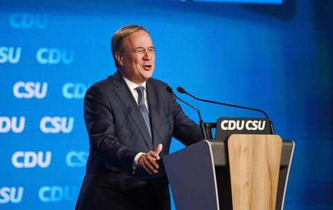 Armin Laschet, Kanzlerkandidat der Union, CDU-Parteivorsitzender und Ministerpräsident von Nordrhein-Westfalen