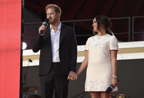 Auftritt in New York: Herzogin Meghan und Prinz Harry.