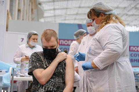 Impfzentrum in Moskau