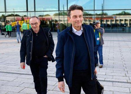 SPD-Chef Norbert Walter-Borjans (l.) kann sichden Fraktionsvorsitzenden Rolf Mützenich (r.) als zweithöchster Mann im Staat vorstellen.