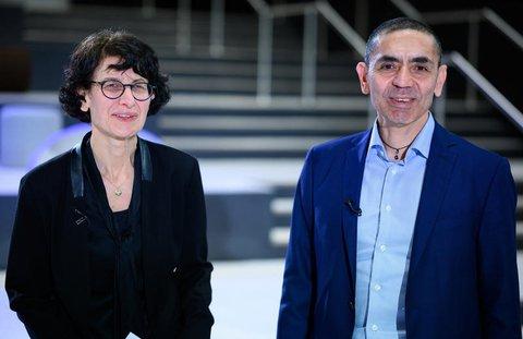Ugur Sahin und seine Frau Özlem Türeci, die Gründer des Mainzer Corona-Impfstoff-Entwicklers Biontech: